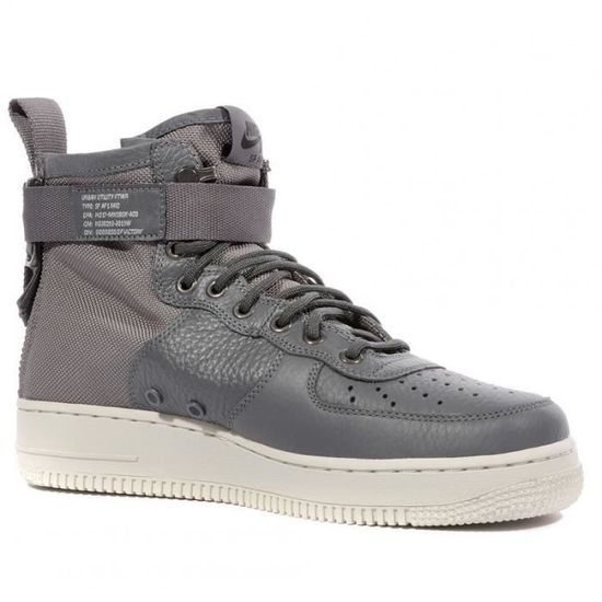 the latest 421b6 76085 SF AF1 MID Homme Chaussures Gris Nike Gris Gris - Achat   Vente basket -  Cdiscount