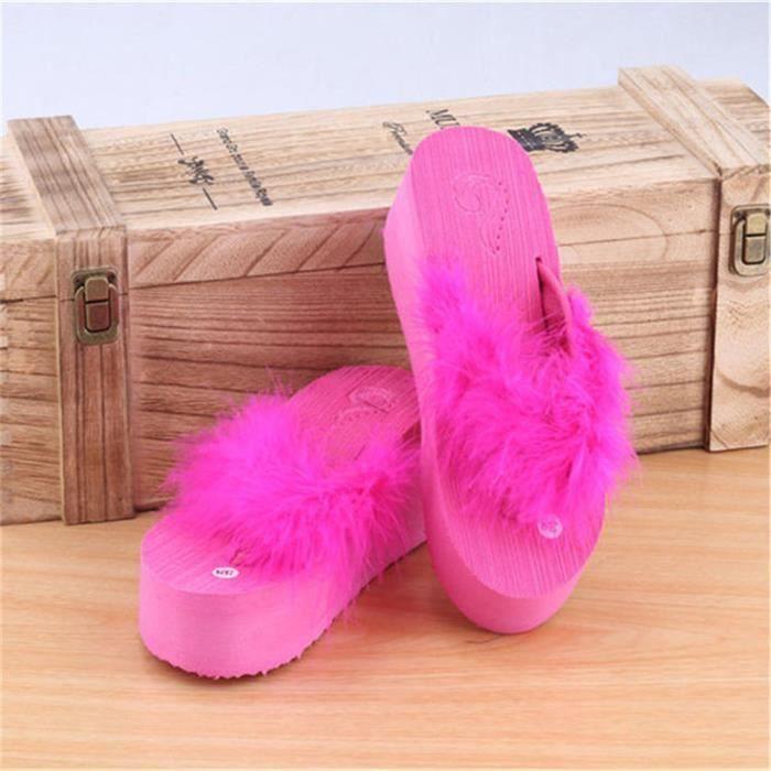Tongs Femmes Nouvelle Mode Chaussures Sandales AntidéRapant Sandales Plages Fond Plat Sandale Marque Femme Plus De Couleur 35-40