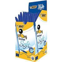Stylo - Parure Bic Cristal Soft Stylo-bille non rétractable Bleu