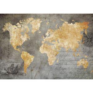 AFFICHE - POSTER Tableau déco Affiche contrecollée 96x136 Carte du