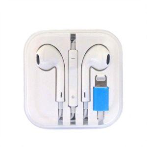 CASQUE - ÉCOUTEURS Écouteurs BLANC prise lightning pour iPhone 7
