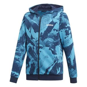 Essentials Print Adidas À Allover Veste Junior Capuche Bleu H2DWIE9Y