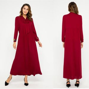 ROBE Femmes musulmanes Robe imprimée velours islamique