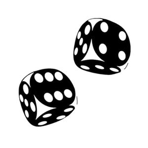 DÉCORATION VÉHICULE Funny Dice Pattern Car-Styling Vehicle Stickers Ré