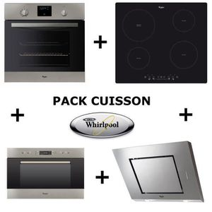 regarder f834c 2c936 WHIRLPOOL Pack cuisson : Four pyrolyse + Table induction + ...