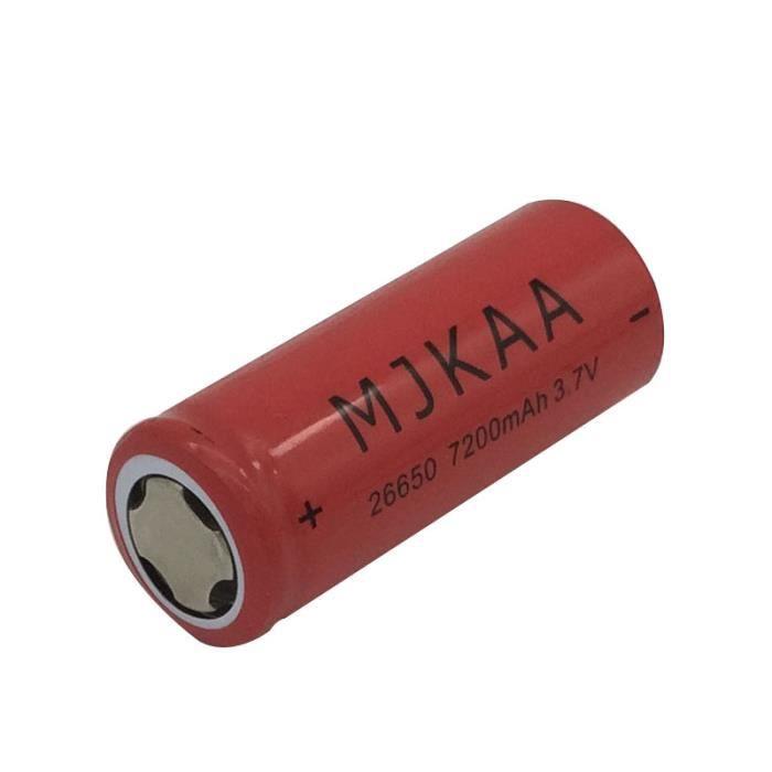 10pcs Piles Rechargeables 7200mah Batteries Lithium Rechargeable