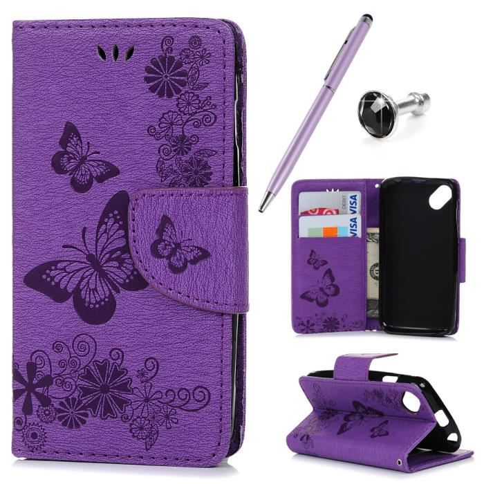 Etui housse coque portefeuille wiko sunny protection for Housse wiko sunny 2