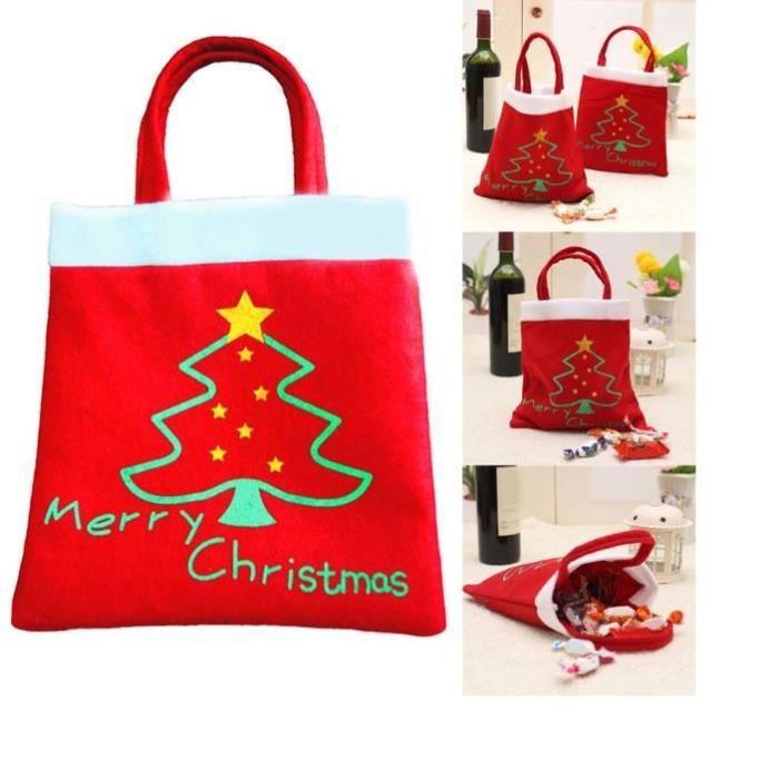 sac cadeau joyeux no l feutrine rouge achat vente chaussette de no l cdiscount. Black Bedroom Furniture Sets. Home Design Ideas