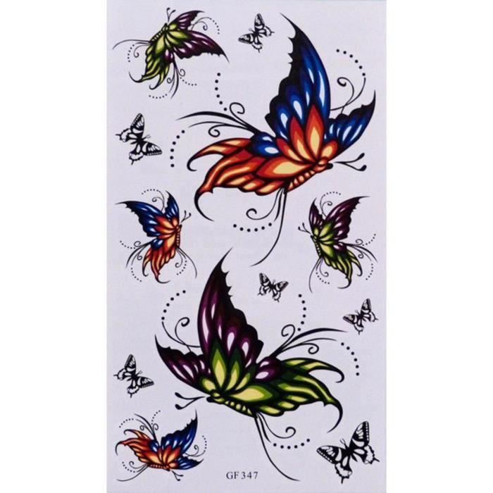 tatouage temporaire papillon achat vente pas cher. Black Bedroom Furniture Sets. Home Design Ideas