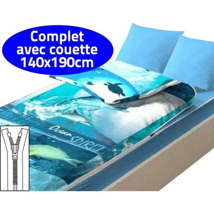 Caradou couchage avec couette   2 personnes, Océan   Achat / Vente