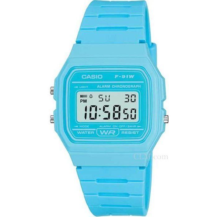 montre bleu femme casio