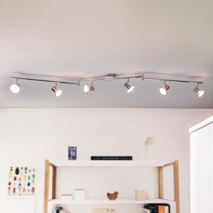 Spot de cuisine led charley six lampes achat vente for Plafonnier de cuisine