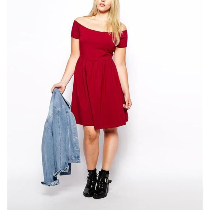 e0a38fd1e80 Robe grande taille robe bustier robe rouge robe... ROUGE - Achat ...