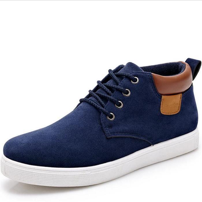 Chaussures Hommes 2017 nouvelle marque de luxe chaussure marque de mode Confortable Durable Qualité Supérieure Chaussures bleu Qh2NBd
