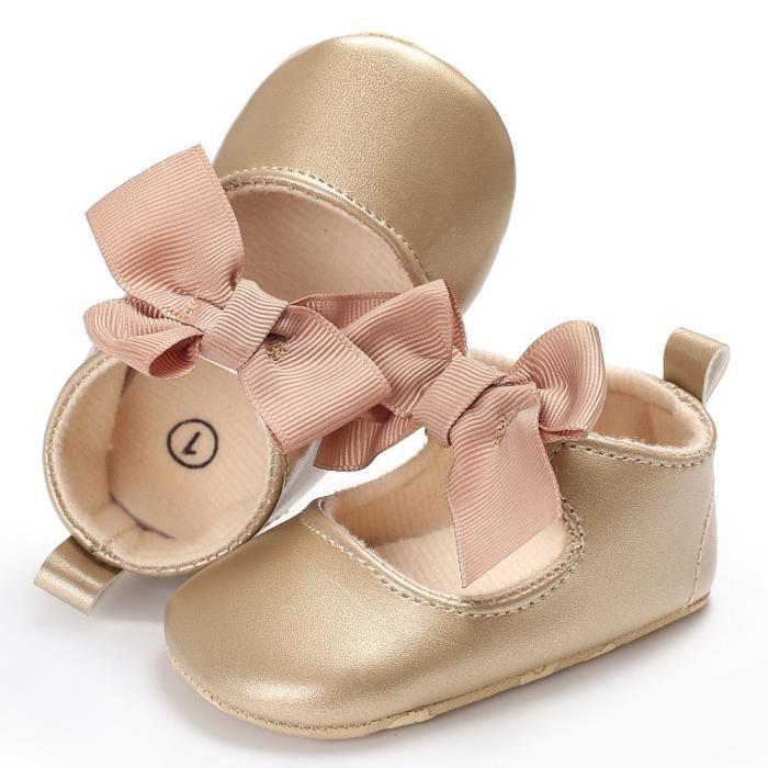 Bébé bowknot princesse semelles sneakers tout-petits chaussures occasionnelles kaki I1dOz8fKFp