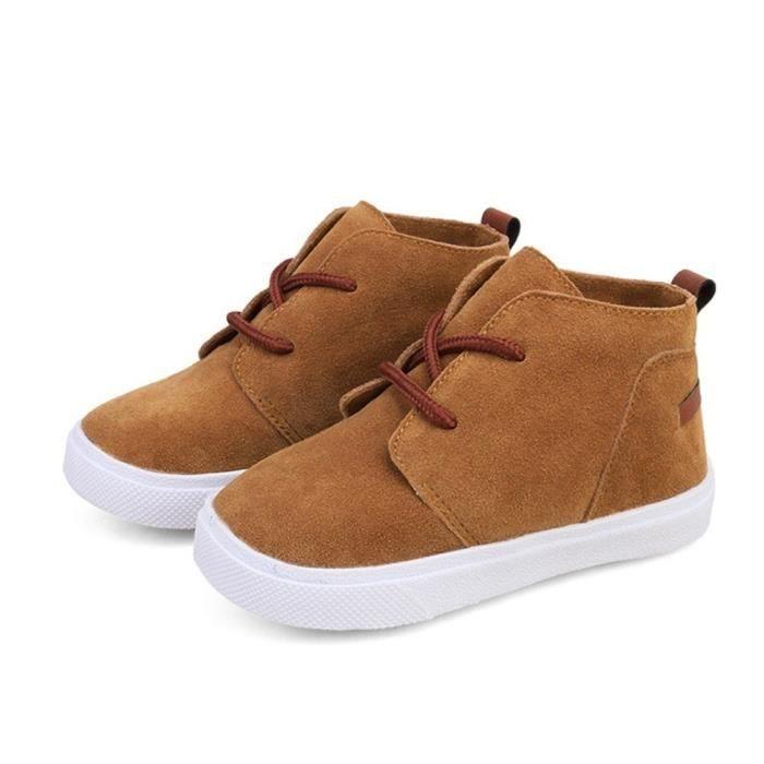 XZ678B6XZ678B6Garçons Filles Faux Suede Chaussures montantes Bottes Baskets Chaussures de marche enfants Chaussures élégant