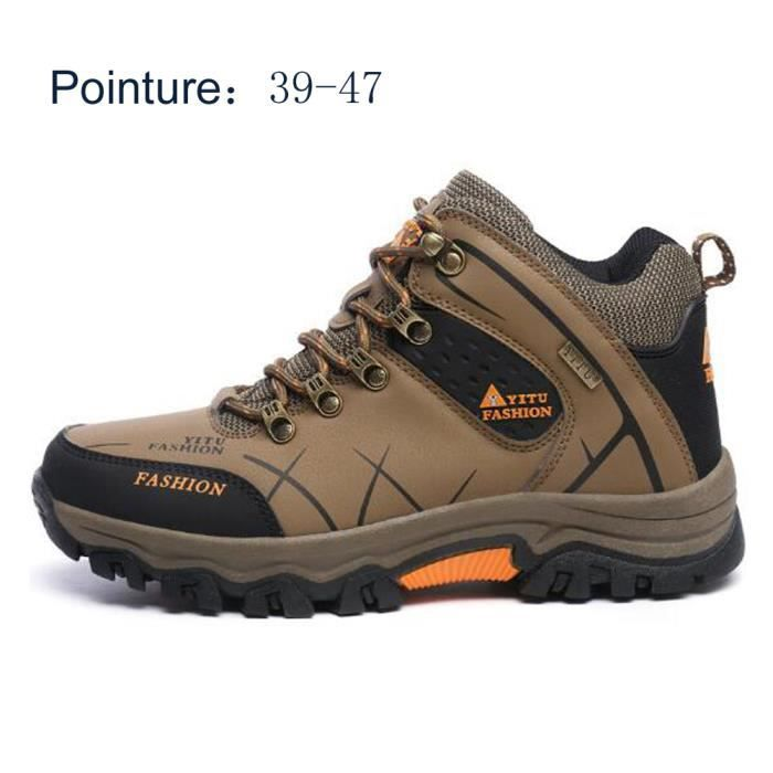 944ec2536ace5 Chaussures Homme Randonnée Hautes Imperméable Boots Marche Marro ...