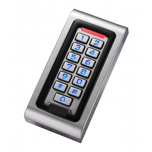 Clavier code et badge m tal portillon ou portail for Digicode sans fil pour porte de garage