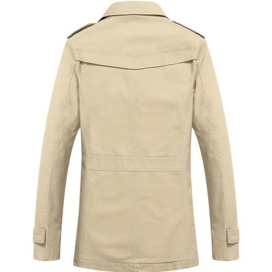 Coton Longues Casual D'automne Veste Slim Homme Manches Printemps wApqn8Xn1