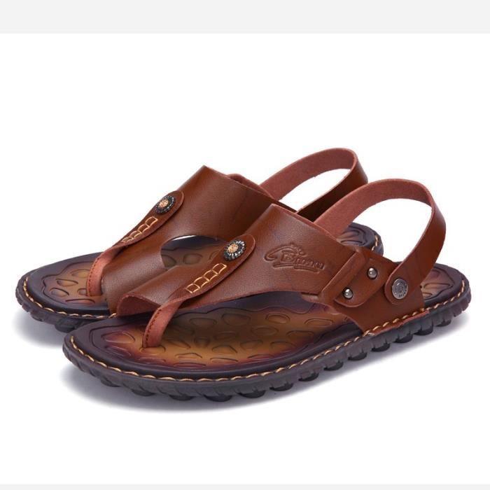 Étudiants coréens simple résistance à l'usure Chaussures Sandales pour homme