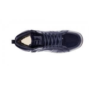 Baskets Homme CLAE Russell Deep Navy Patent w6a8nPc9x