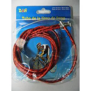 DÉCORATION DE VÉLO 2 x Câble et gaine rouge de frein vélo Kit Câbles