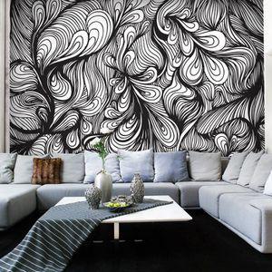 papier peint noir et blanc achat vente pas cher. Black Bedroom Furniture Sets. Home Design Ideas