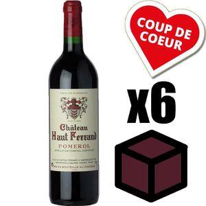 VIN ROUGE X6 Château Haut Ferrand 2009 Rouge 75 cl AOC Pomer