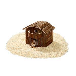 ACCESSOIRE ABRI ANIMAL Maison pour rongeurs en bois naturel Wonderland…