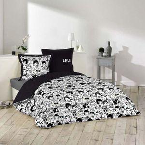 housse de couette 220x240 lulu castagnette achat vente housse de couette 220x240 lulu. Black Bedroom Furniture Sets. Home Design Ideas