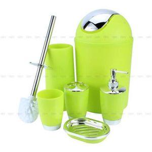 SET ACCESSOIRES Set 6pcs accessoires salle de bain créatifs