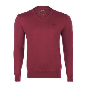 PULL Lacoste Homme Pull Bordeaux