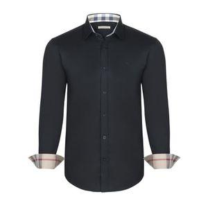 3d93b5cbacc Chemise Burberry Homme Noir Noir Noir - Achat   Vente chemise ...