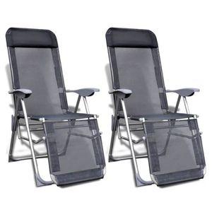 CHAISE DE CAMPING Ensemble de 2 Chaises de camping Aluminium pliable