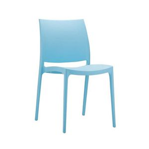 Chaise de jardin en plastique bleu achat vente chaise - Chaise de jardin bleu marine ...
