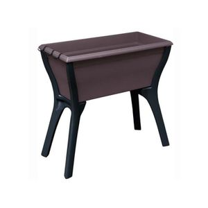 Table de jardin en plastique taupe résistante aux ...