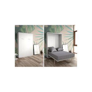 LIT ESCAMOTABLE Armoire lit escamotable verticale 2 places 140 x 2