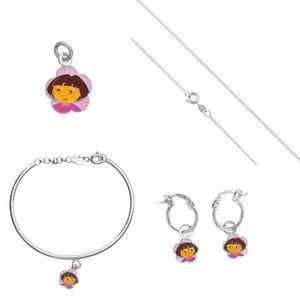 BRACELET - GOURMETTE 16 cm Bracelet Enfant Style Pandora Charm Cerises