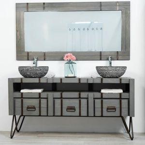meuble double de salle de bain loft bois metal Résultat Supérieur 16 Inspirant Meuble Double Vasque Bois Pas Cher Galerie 2018 Jdt4