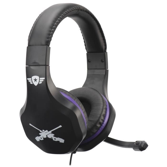 Casque Gaming avec micro Subsonic pour PS4, Xbox One, Switch et PC