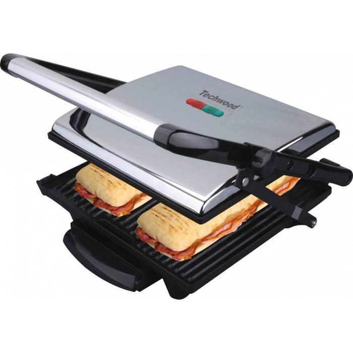 TECHWOOD Grill viande et panini TGD018