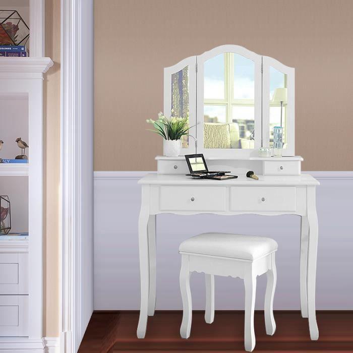 COIFFEUSE, coiffeuse Table de maquillage style champêtre MEUBLE DE ...