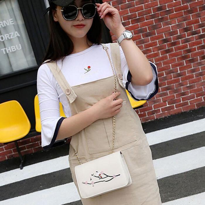 Fosenme CQQ70620352BG Mode féminine chaîne en cuir Sac à bandoulière Sac à bandoulière Messenger Sac de téléphone