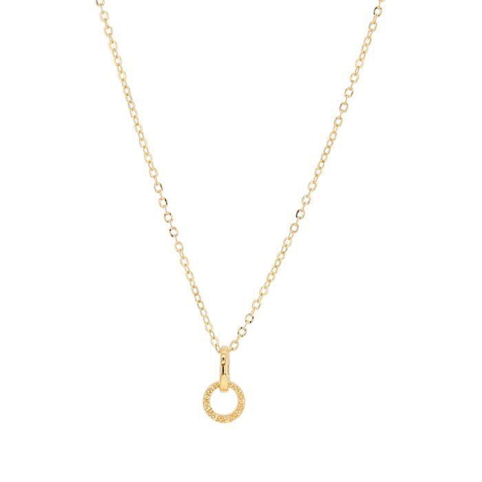 Jouailla - Collier 2 anneaux plaqué or