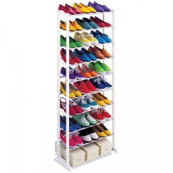 Range chaussures 30 paires achat vente housse de for Housse rangement chaussures