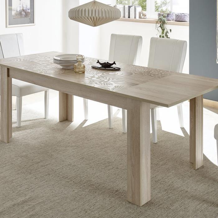 90 3 140 P 79 185 Nerina L Chêne Table Clair H X Extensible Beige Cm Couleur orBdCex