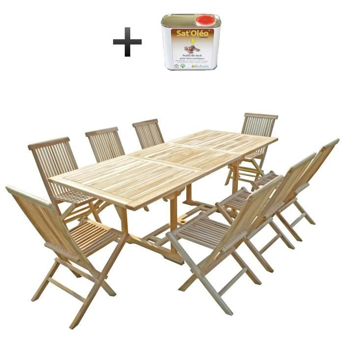 Table en teck avec rallonges - Achat / Vente pas cher
