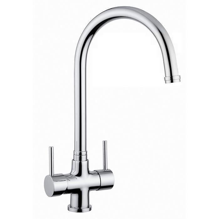 robinet 3 voies cuisine avec levier filtre eau robinet. Black Bedroom Furniture Sets. Home Design Ideas