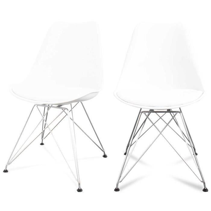 Lot De 2 Chaises Design Ormond Eiffel Couleur B