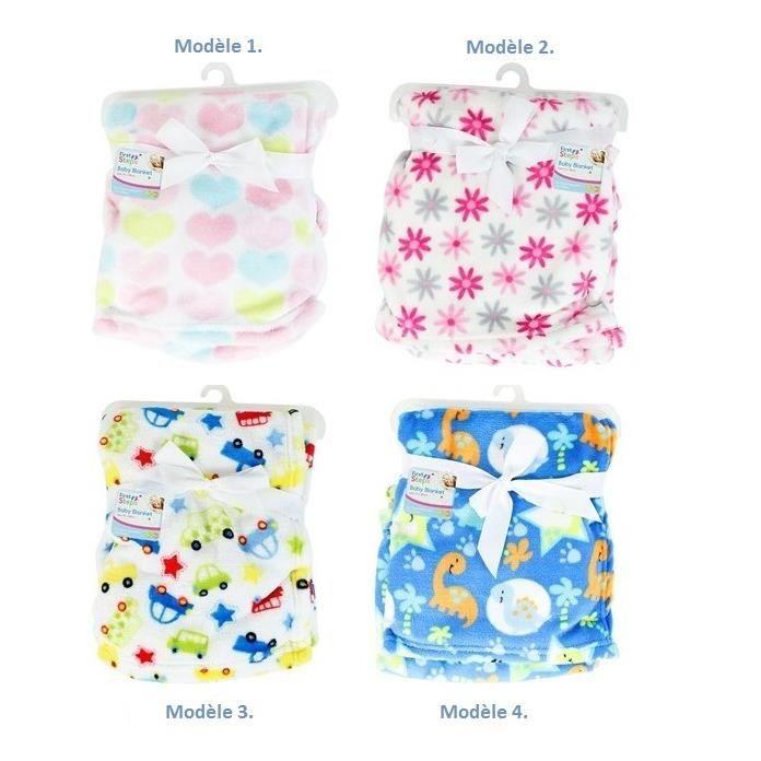 couverture bébé en microfibre Couverture bébé plaid garçon ou fille en microfibre Modèle 2  couverture bébé en microfibre